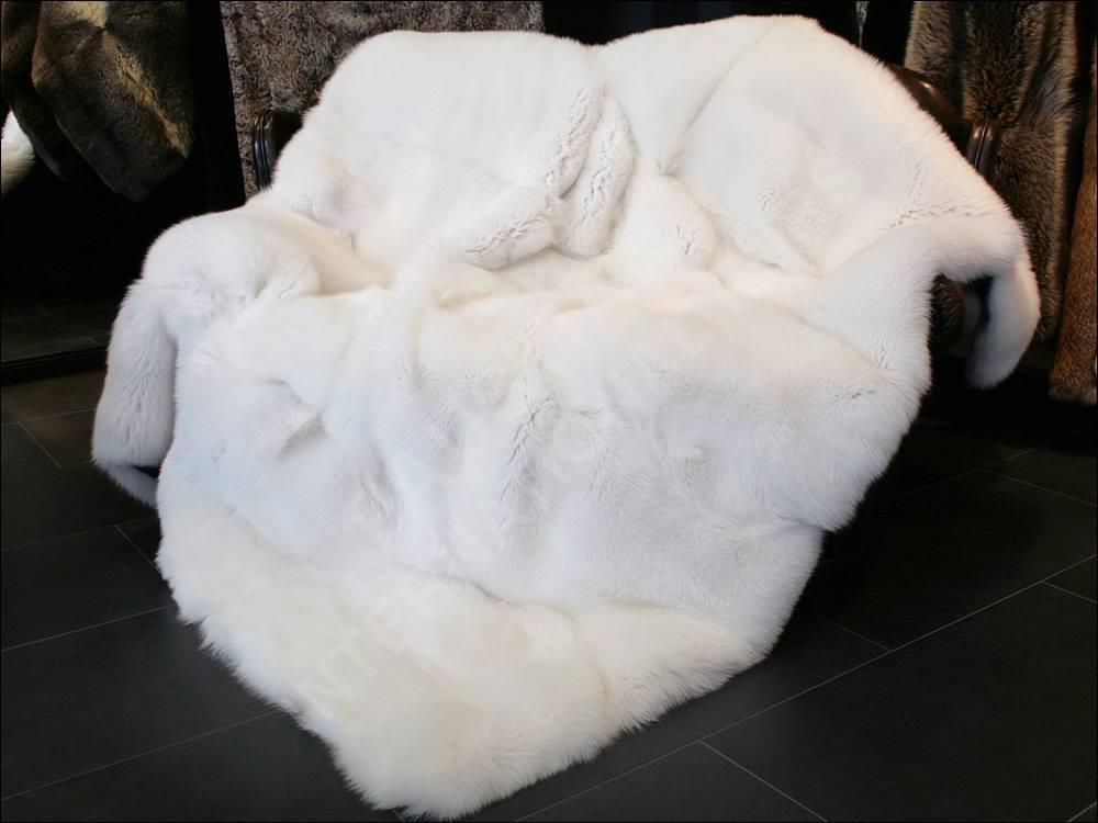 560 King Size SAGA Shadow fox Genuine Fur blanket Throws