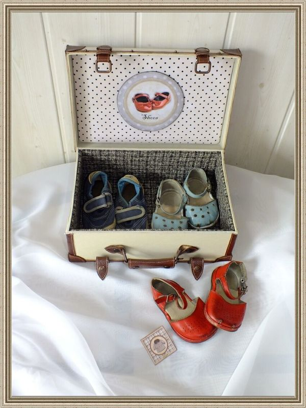 How to make a box of shoes box in the form of a suitcase