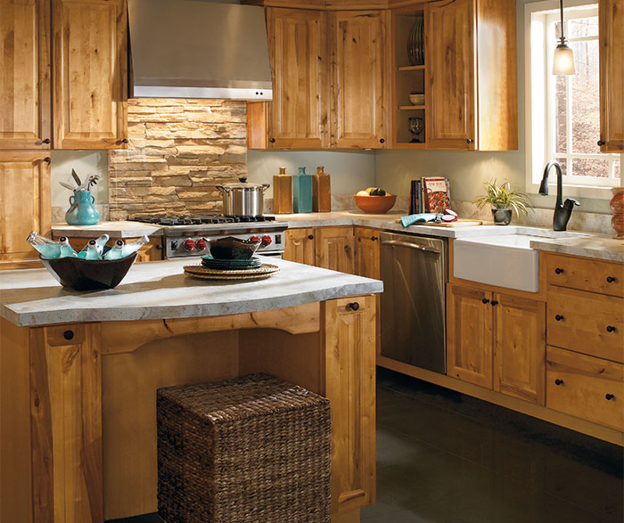 rustic kitchen cabinet antique red cabinets by aristokraft featured masterbrand cabinetry