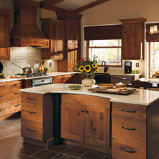 rustic hickory kitchen cabinets island light fixtures choosing a wood masterbrand by
