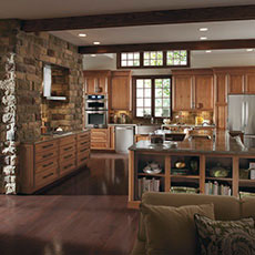 rustic kitchen cabinet grohe faucet parts cabinets cabinetry styles masterbrand cherry in a style