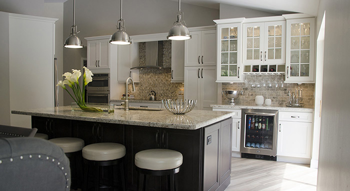 remodeled kitchen cabinets maryland remodel creating a multi purpose room with off white and dark maple island