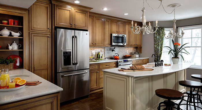 rachael ray kitchen ikea designs remodel features maple cabinetry with decora cabinets on show