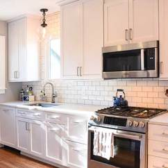 Small Kitchen Remodels Utility Cabinets For Makeovers Renovation Stories Masterbrand Renovated With White By Omega