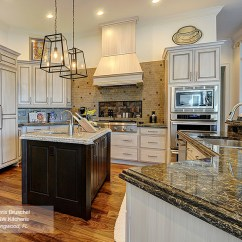 Off White Kitchen Cabinets Decorative Signs With A Dark Wood Island Masterbrand Danville In Maple Pearl Alder Truffle