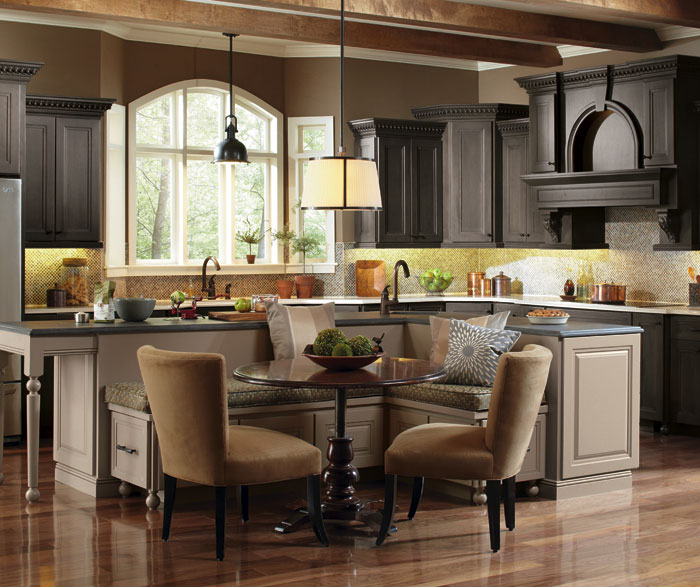 large kitchen island merillat cabinets casual with a masterbrand hollibrune