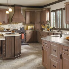 Kitchen Cabinets Wood Aid Double Oven Cabinet Types Photo Gallery Masterbrand Laroche With Cherry In Riverbed Finish