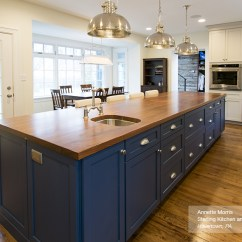 Blue Kitchen Island Farmhouse Sink For Sale Off White Cabinets With A Masterbrand Puritan In Maple Magnolia Lagoon
