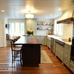 Farmhouse Kitchen Cabinets Sinks Masterbrand Williamsburg In Maple Rain And Cherry Smokey Hills Finishes