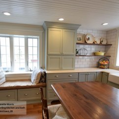 Farmhouse Kitchen Cabinets Vinyl Floor Tiles Masterbrand Williamsburg In Maple Rain And Cherry Smokey Hills Finishes