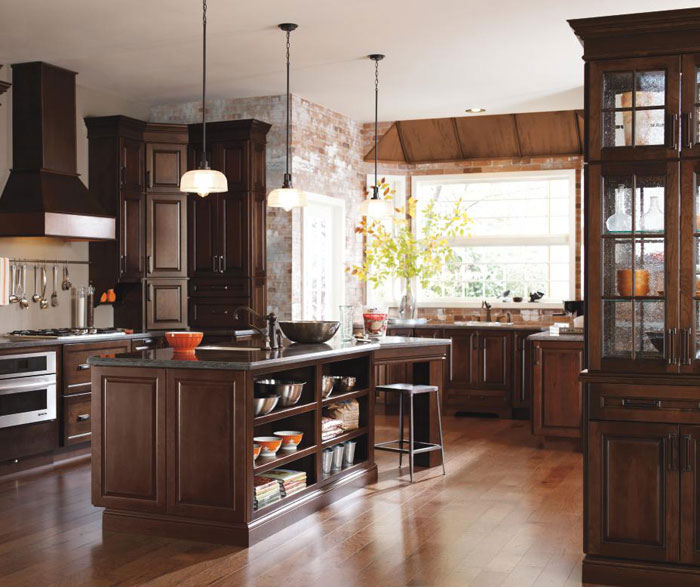 Contemporary Cherry Kitchen Cabinets  MasterBrand