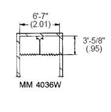 MM-4036W ,Bradley Washroom Equipment,MM-4036W Bradley