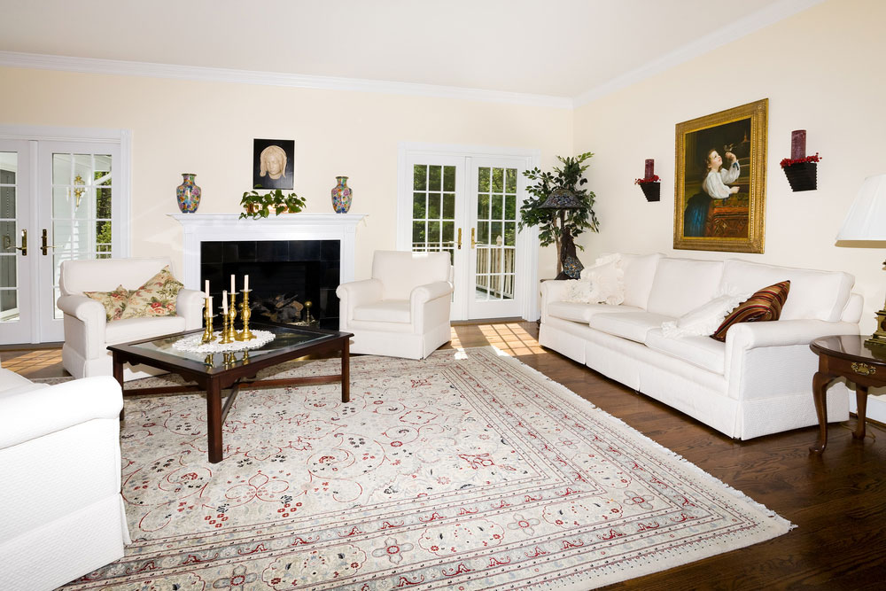 living room with carpet color schemes dark brown furniture getting the right rug for your master cleaning