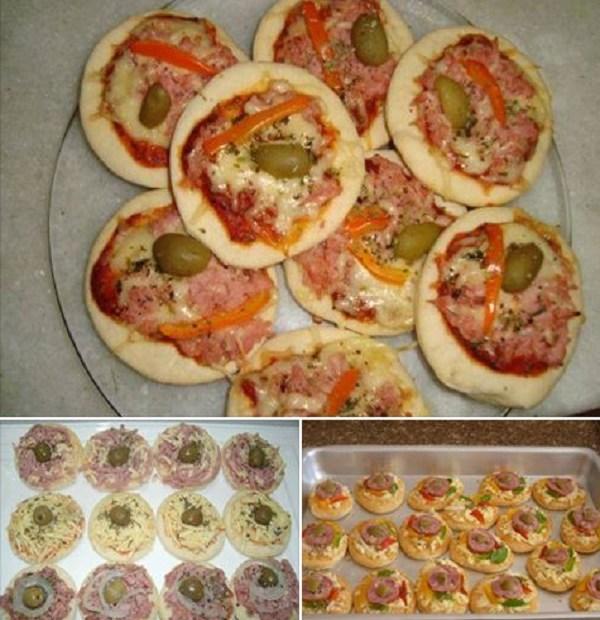 Receita de mini pizza caseira