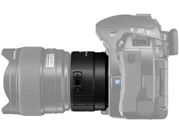 EC-20 attached on E3 and 8mm F3.5 fisheye