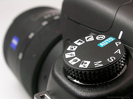Sony A200 Shooting Mode Dial