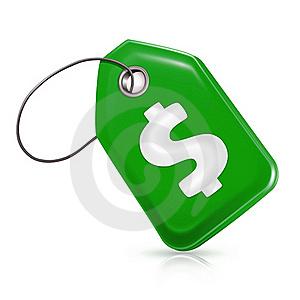 Green price tag
