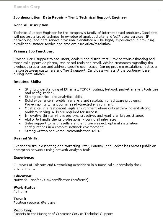 Training for Management  How to create a job description