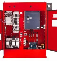 variable frequency drive fire pump controller open door [ 5135 x 3758 Pixel ]