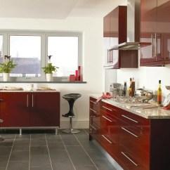 Kitchens For Less Kitchen Magazines Haddington Burgundy Gloss - Mastercraft