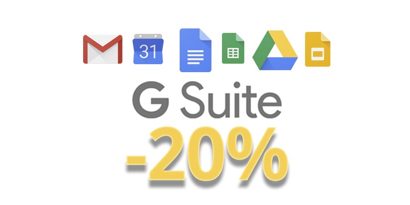 CODICE SCONTO G-SUITE CLOUD ILLIMITATO