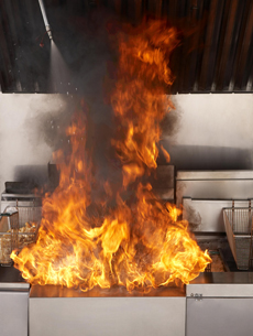 commercial kitchen hood cleaning wood island restaurant fire suppression systems - master ...