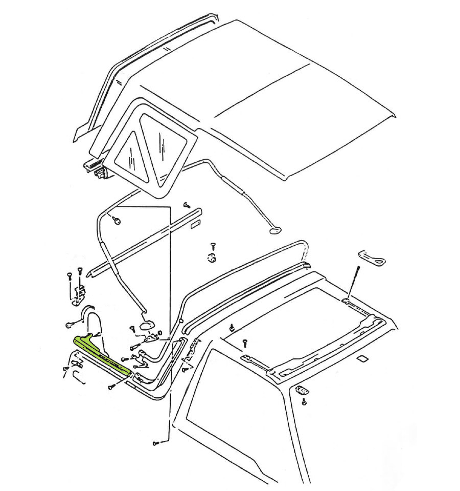Fixation arrière droit de bâche Suzuki Santana Vitara MK2