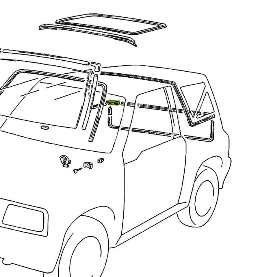 Joint d'étanchéité arrière droit Suzuki Santana Vitara MK2
