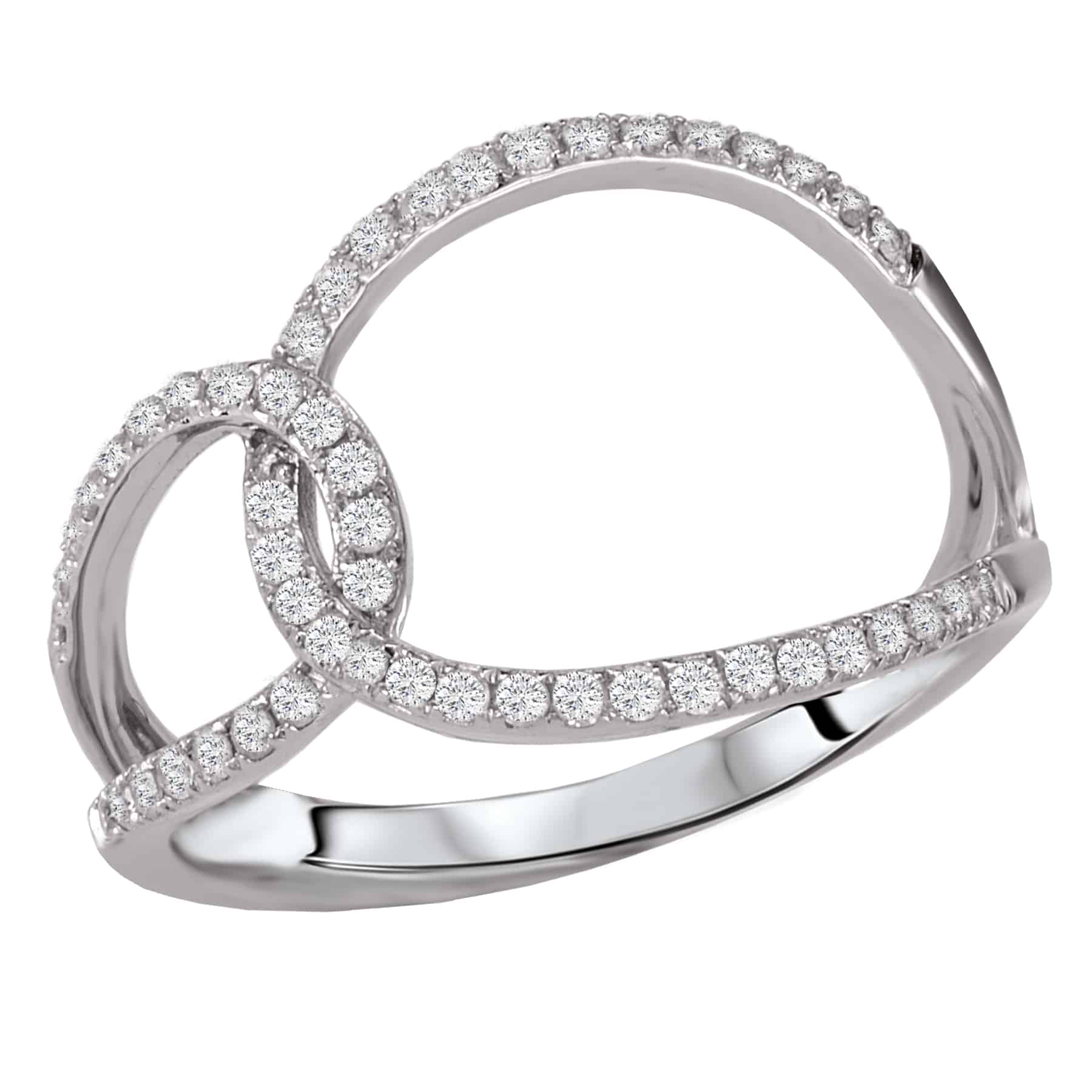 Tesoro Open Diamond Loop Ring