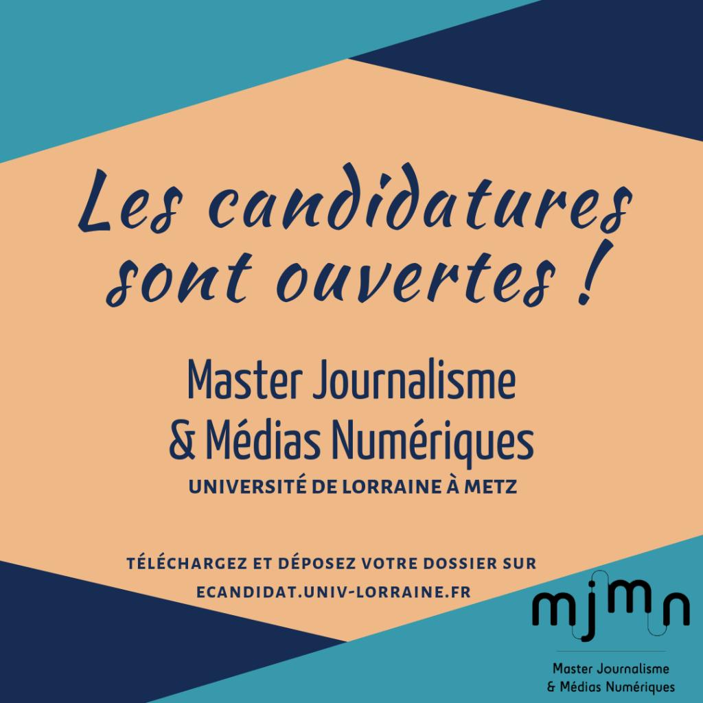 Les candidatures au MJMN sont ouvertes !