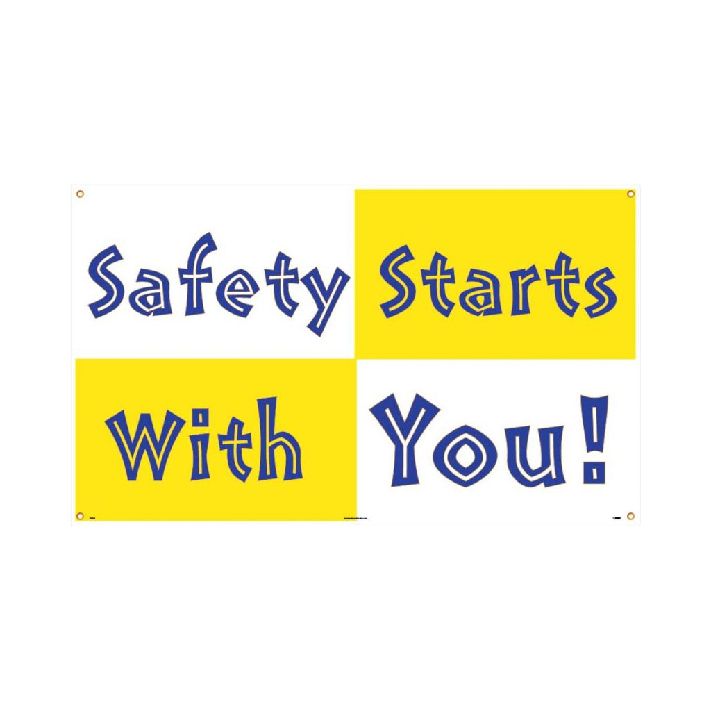 Sig Bt523 Sigbt523 Banner 3ftx5ft Pe Safety Starts With