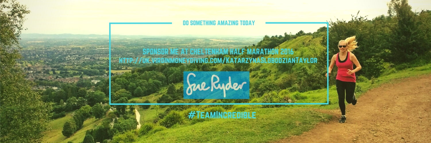 Kasia's fundraising for Sue Ryder
