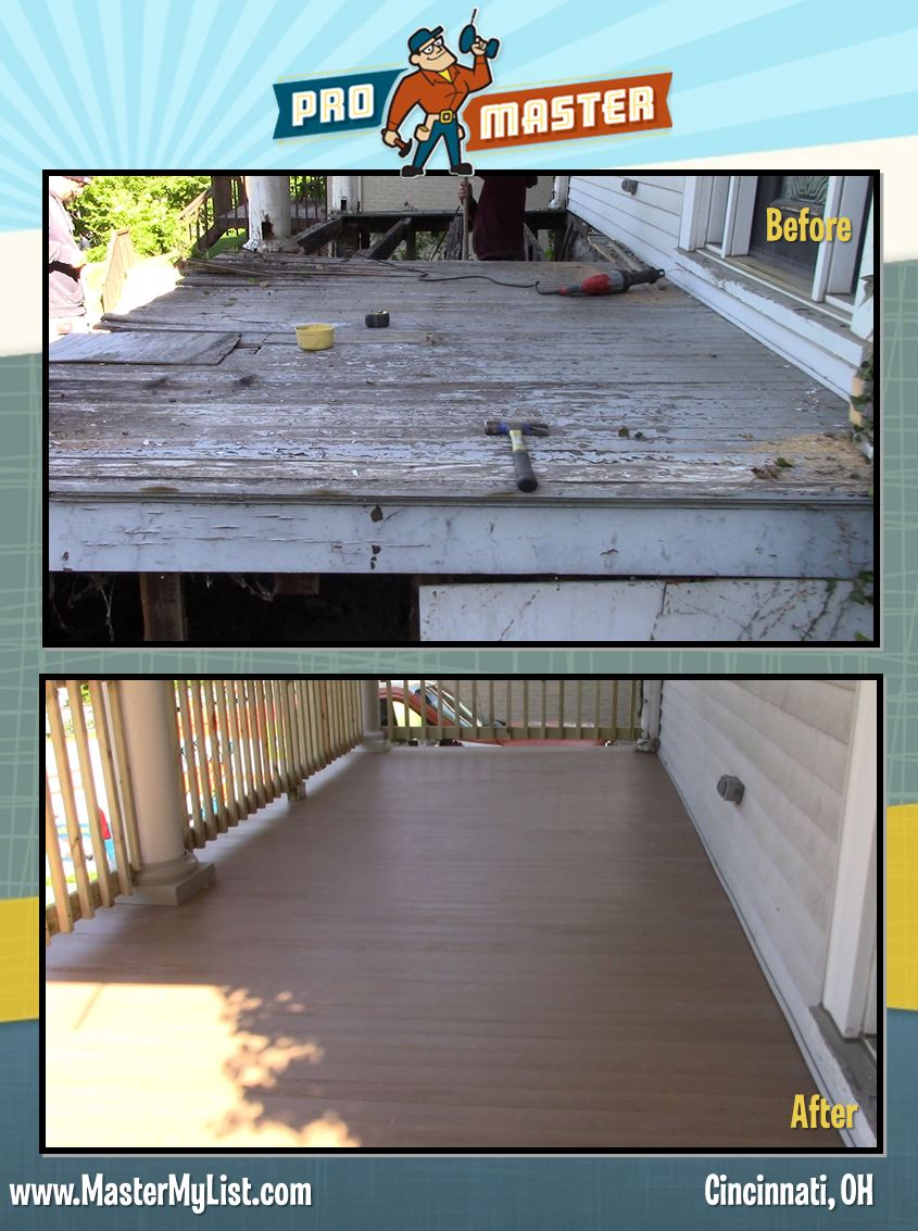 Porch Remodeling In Hyde Park Oh Promaster Home Repair