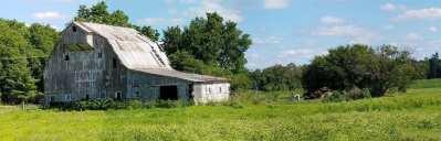 Old Barn and Field - Stoic Barn