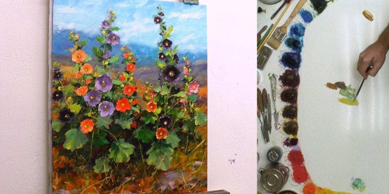 How to Paint Hollyhocks – Part 1