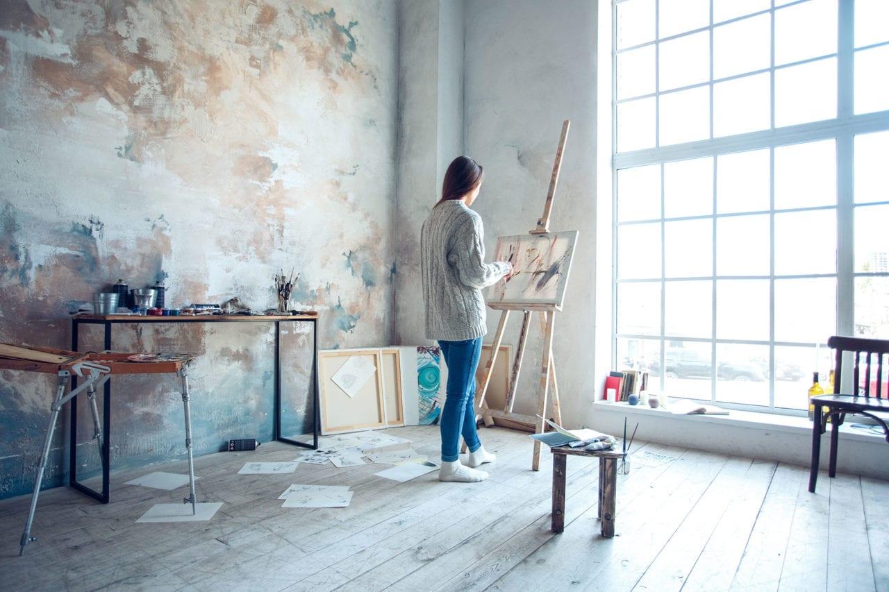 light lighting for studio painting