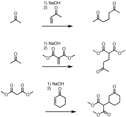 "1,4-addition of enolates to enones (""The Michael Reaction"