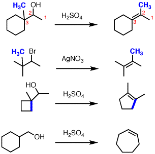 Elimination (E1) with 1,2-alkyl shift — Master Organic