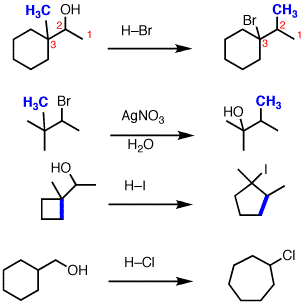 Substitution with accompanying alkyl shift — Master