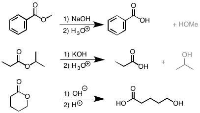 Basic hydrolysis of esters (saponification) — Master