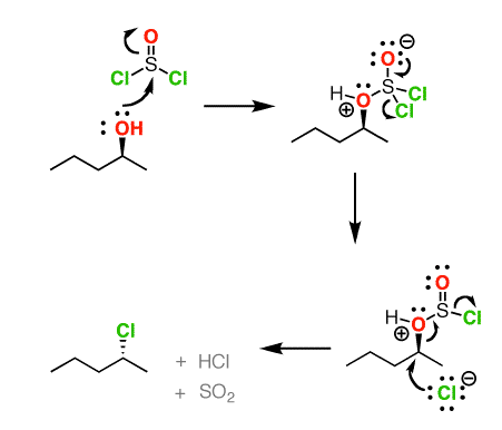 SOCl2 and the SNi Mechanism — Master Organic Chemistry
