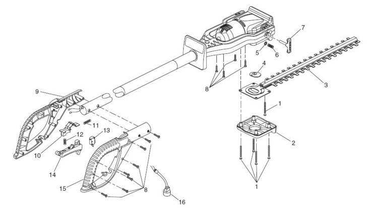 Master Parts: Remington electric chain saw parts.