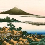 Katsushika Hoklusai's artworks 'Dawn at Isawa in Kai Province'