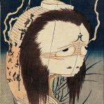 Hokusai's horror ghosts artworks (ukiyo-e)