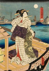 Woman in a White kimono