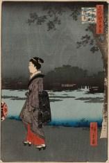 Night View of Matsuchiyama and San'ya Canal