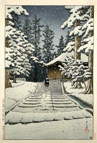 Konjikido in Snow Hiraizumi(1957, last work)