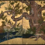 The Folding Screen Painting of Cypress by Kano Eitoku