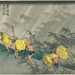 Light rain at Shono art woodblock print by Utagawa Hiroshige