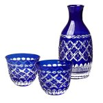 Buying Edo-kiriko cut glass sake sets made in Japan
